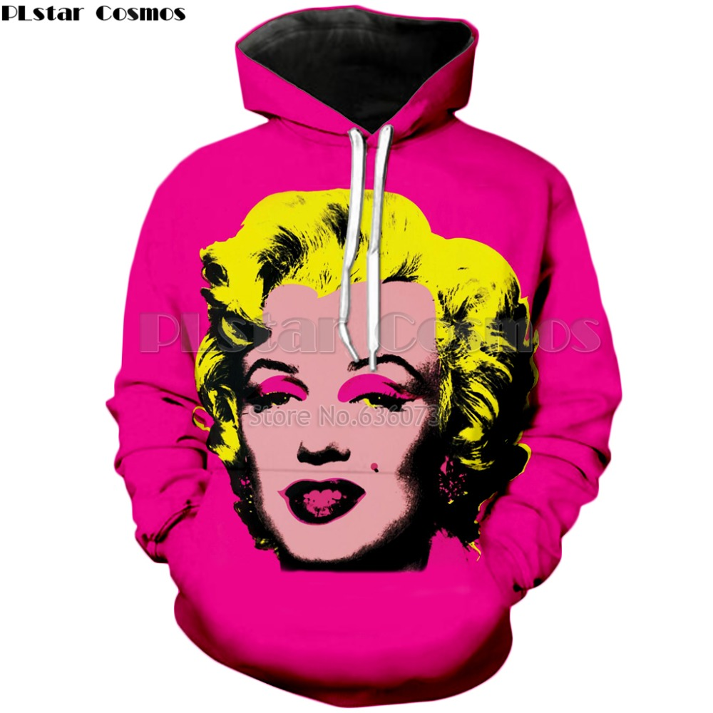 03a8caea516b PLstar Cosmos 2018 autumn New Fashion hoodies Sexy actress Marilyn Monroe 3d  Print Mens Womens Sweatshirt Retro Style Hoody -in Hoodies   Sweatshirts  from ...