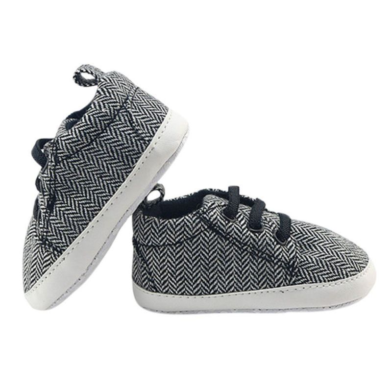 Baby Sneakers Boys Toddler First Walker Newborn Canvas Shoes Fashion Spring And Autumn Infantil Baby Boy Striped Lace-Up Shoes