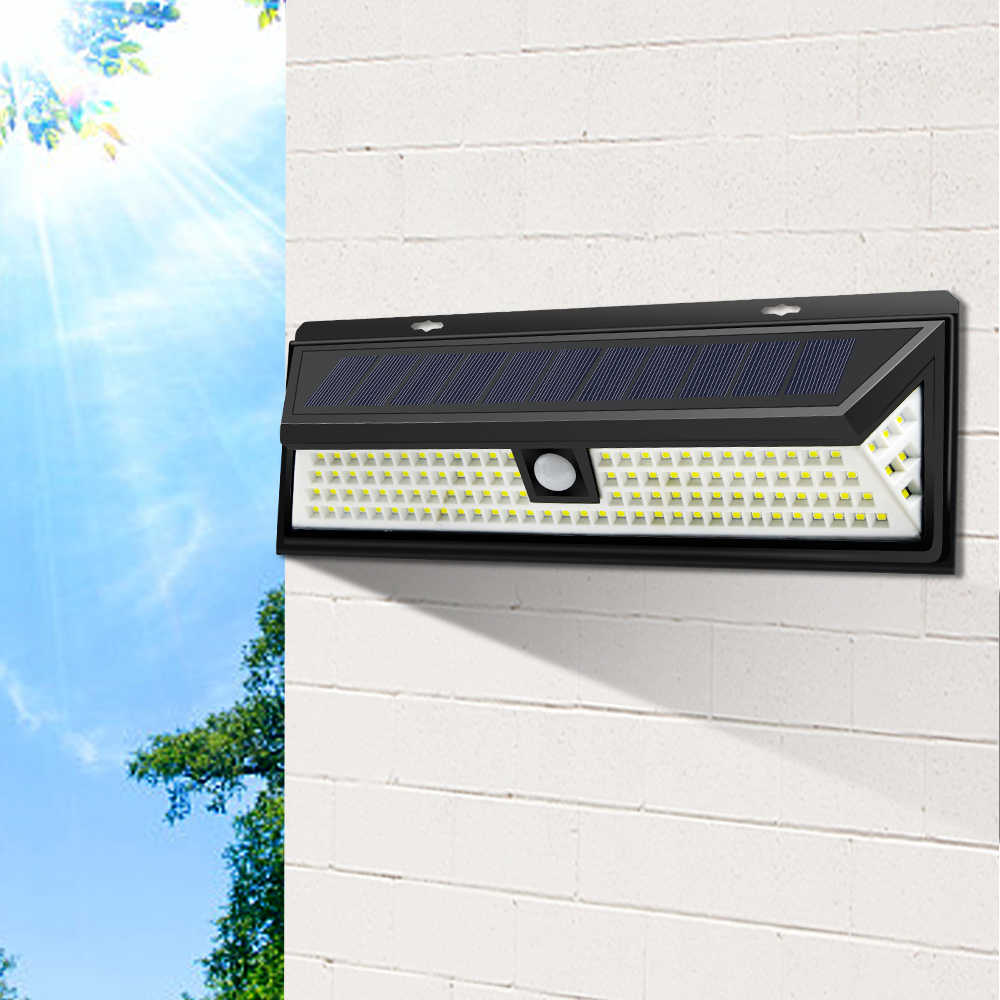 Waterproof Outdoor Street Light With Motion Sensor Solar Rechargeable Power Lamp Lights Smart On/Off Night Security Solar Lamp