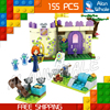 155pcs SY321 Princess Series Meridas Highland Games Princess Castle Building Brick Blocks Snow queen Toys Compatible With Lego