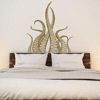 창조적으로 문어 촉수 비닐 벽 스티커 해상 바다 3D 아트 데칼 침실 거실 홈 장식 드롭 배송