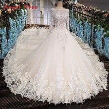 Robe de mariée élégante avec perles