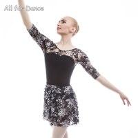 Adult Ballet Dance Wrape Skirt For Ballet Dance Performance Practice Dance Tulle Skirt Spandex Waist Chiffon