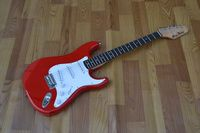 free shipping new Big John single wave electric guitar in red with white pickupgard F 1062