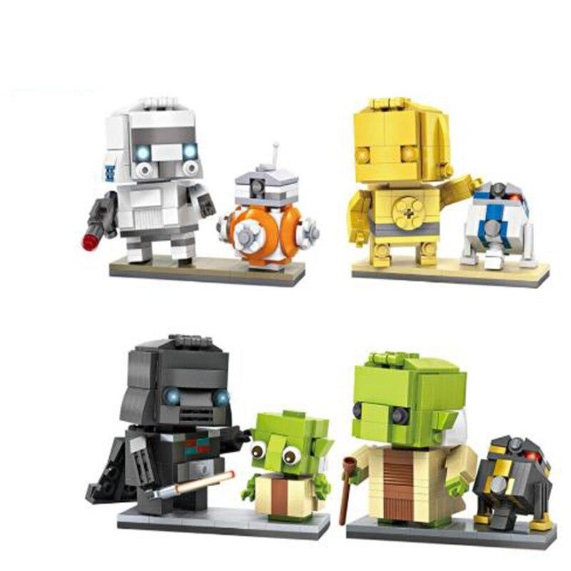 LOZ Mini Blocks Stella wa Yoda di Piccola dimensione DIY Costruzione di Giocattoli R2 d2 Asta Giocattoli di Modello Juguetes Boy Regali Giocattolo Per Bambini 1501