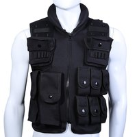 Tactical Vest Cool Mens Hunting Vest Outdoor Black Training Military Army Swat Vests Men Waistcoat Protective Equipment
