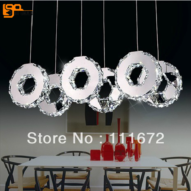 new modern design hanging  lamp  LED crystal light dinning room light fixtures
