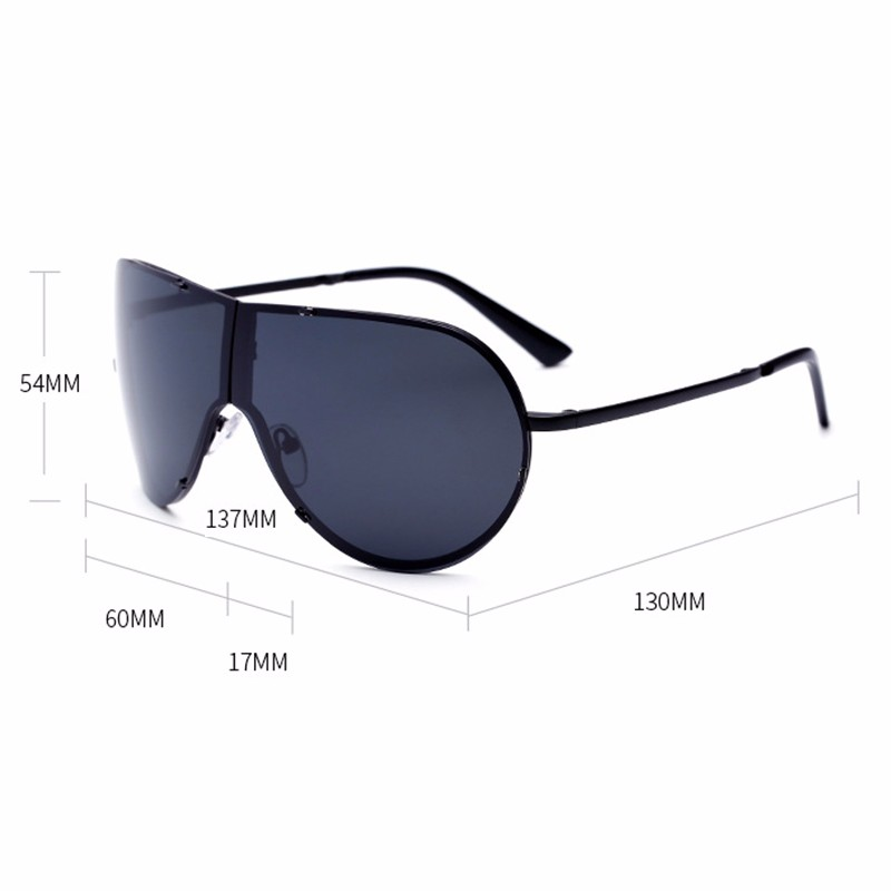 Lager Motorcycle Sunglassses Men Women Oversize Frameless Sunglasses Foldable Glasses Big Moto Goggles 8487 (11)