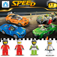 Qunlong Compatible Legos Speed Technic City Building Blocks DIY 4 Style Racing Car Figures Eductional Toys