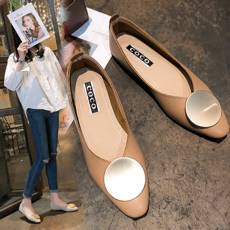 Pointed retro rough with grandma shoes female leather fairy wind soft leather shallow mouth single shoes female 2019 flat bottomPointed retro rough with grandma shoes female leather fairy wind soft leather shallow mouth single shoes female 2019 flat bottom