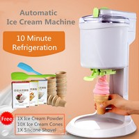 NEW Automatic Soft Ice Cream Cones Making Machine Homemade DIY Icre Cream Maker 220V 1L Capacity Household Appliance Supplies