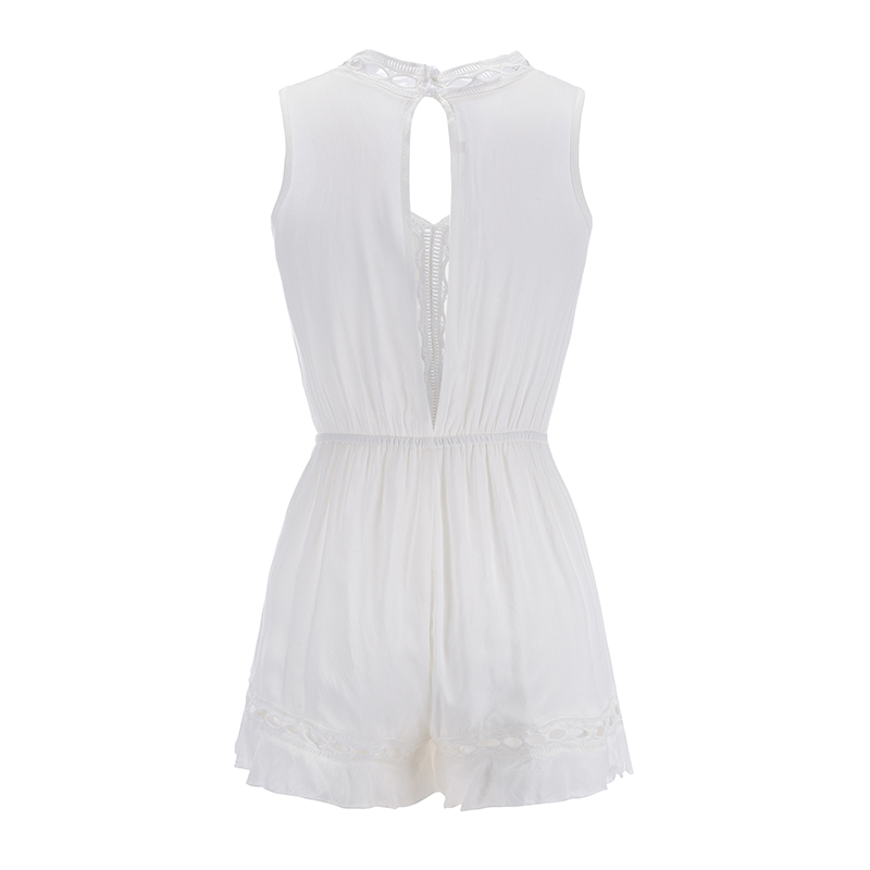 Colysmo Sexy Jumpsuits For Women 2018 Overalls For Women Bodysuit White New Summer Playsuit Beach Lace Playsuit Summer Jumpsuit