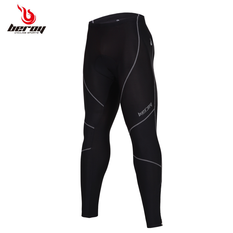 Good Quality Fabric Mens Bike Bicycle quick dry pant Cycling Long Padded Pants trousers for riding S-3XL