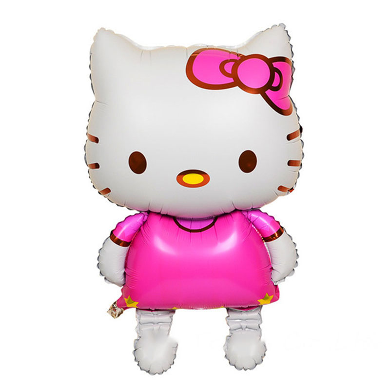 Festive & Party Supplies Event & Party Large 80x48cm Hello Kitty Cat Foil Balloons Cartoon Birthday Decoration Wedding Party Inflatable Air Balloons Classic Toys Skillful Manufacture