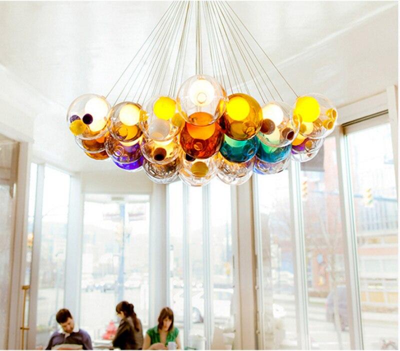 Aliexpress DIY Bunte Kristall Glas Pendelleuchte Kreative Design Pendelleuchten Fr Wohnzimmer Bar Decor Led G4 AC 96 265 V Beleuchtung Von