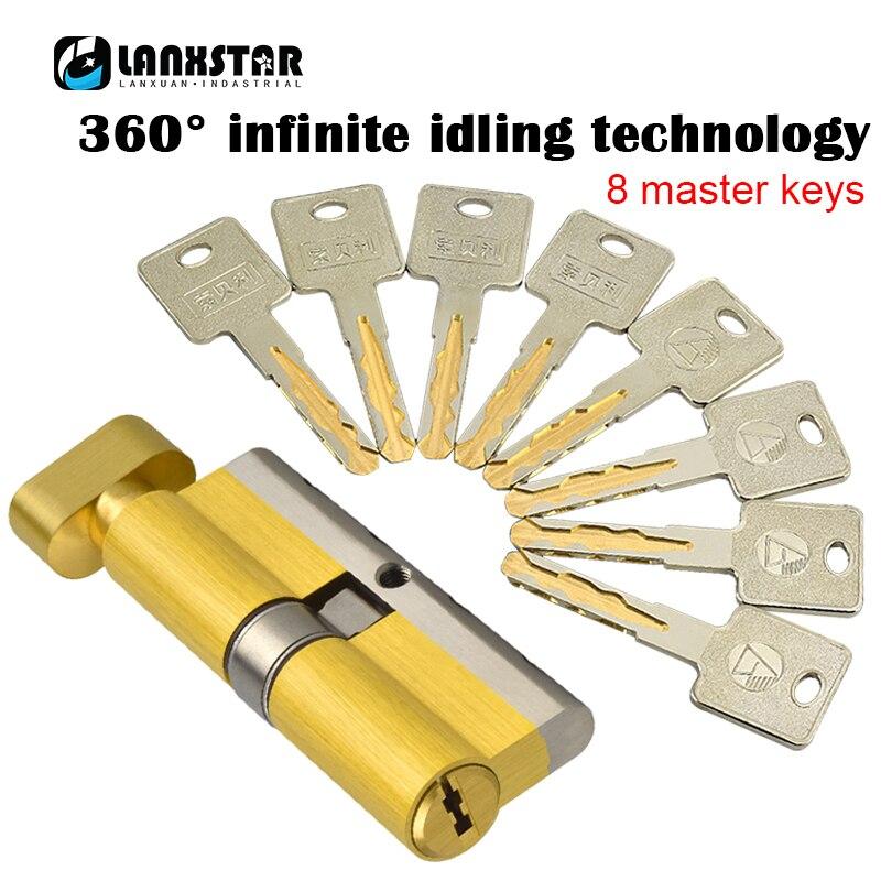 Super C-class Security Door Idling Lock Core Single Open Big 70/75/80 /105/110mm Explosion-proof For
