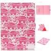 Pink Elephant Leather Flip Case For Apple IPad Air 2 IPad Mini 4 IPad 2 3