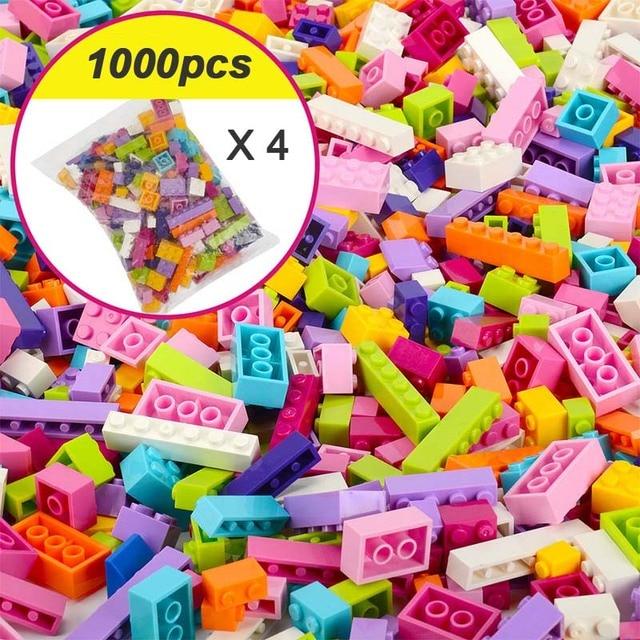 250-1000 Pieces Legoes Building Blocks City DIY Creative Bricks Educational Toys 5