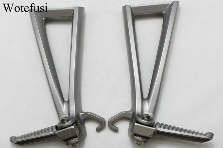 Wotefusi Rear Passenger Foot Rest Pegs Brackets For Yamaha YZF R6 2006 2007 2008 2009 2010 2011 Silver [MT181] free shipping motorcycle parts silver cnc rearsets foot pegs rear set for yamaha yzf r6 2006 2010 2007 2008 motorcycle foot pegs