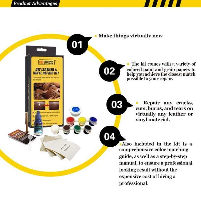 US $9 37  Leather Repair Glue Kit Vinyl Color Paste for Car Seat Sofa Coats  Holes Scratch Cracks Rips Liquid Leather Repair Tool-in Tire Repair Tools