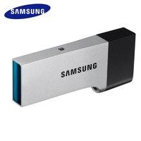 삼성 USB 플래시 드라이브 디스크 16 그램 32 그램 64 그램 128 그램 금속 미니 펜 드라이브 고속 Pendrive 키 체인 USB 스틱 U 디스크 Freeship