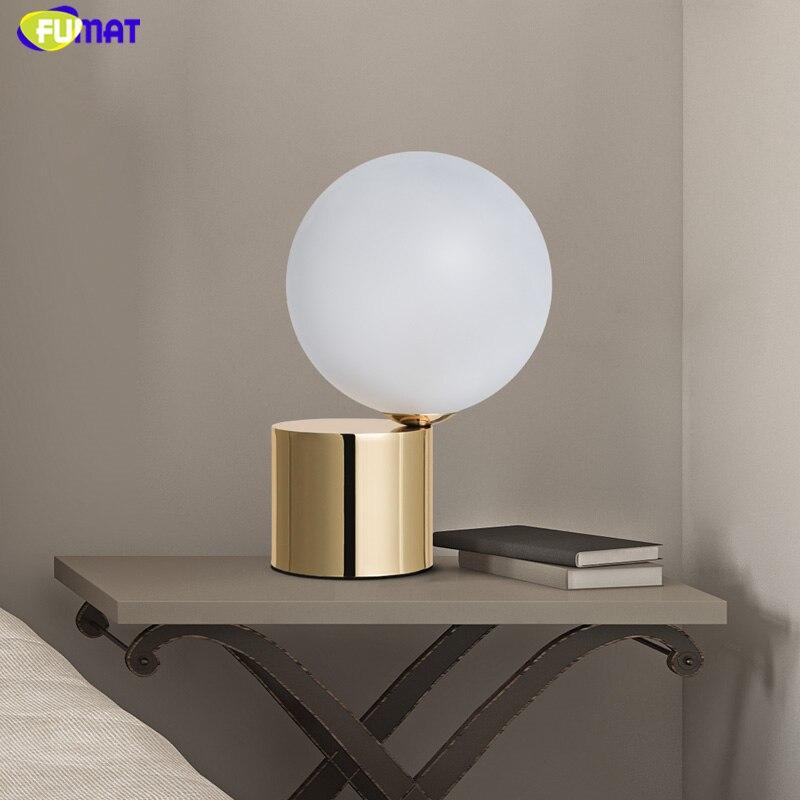Креативные настольные лампы FUMAT, волшебные мини стеклянные шариковые настольные лампы для гостиной, прикроватные стеклянные шары G9, светод
