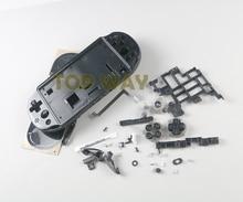 غطاء غطاء اللوحة الأمامية الخلفية بالكامل أسود مناسب لأزرار لوحة التحكم PSV2000 PSVITA 2000