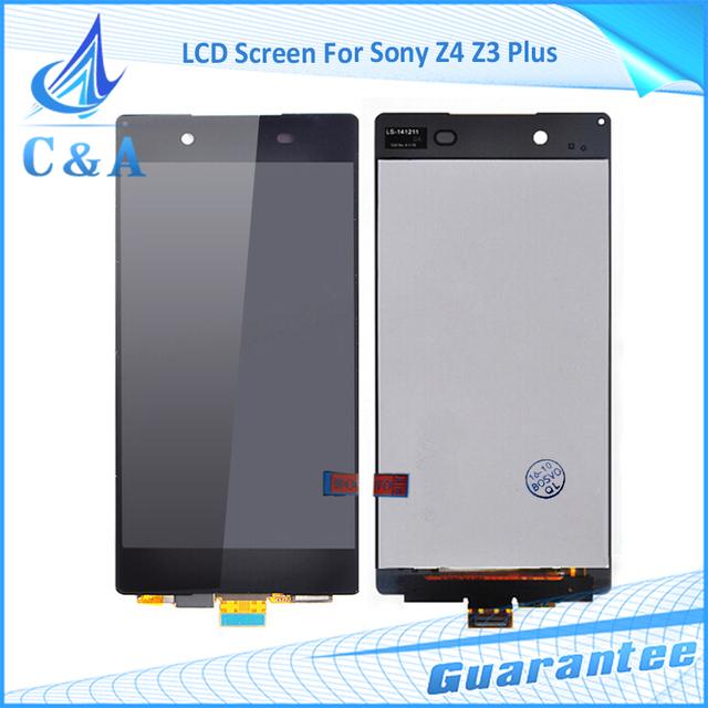 1 peça frete grátis parte substituição de 5.2 polegada de tela para sony xperia z4 z3 + z3 plus e6533 display lcd com toque digitador