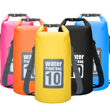 10L Waterproof Water Resistant Dry Bag Sack Storage Pack Pouch Swimming Kayaking Canoeing River Trekking Fishing Double Straps