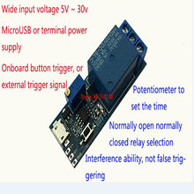 5 stücke Breite spannung 5 v-30 v trigger verzögerung relais modul/timer module/verzögerung leitung/ verzögerung schalter