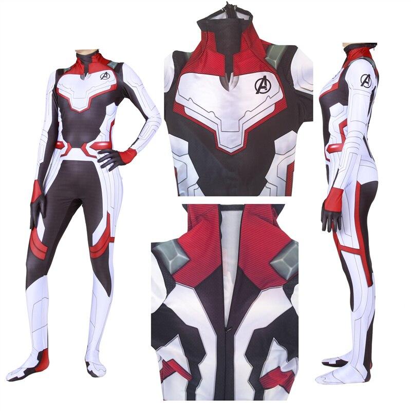 Women Avengers Endgame Quantum Realm Cosplay Costume Superhero Zentai Bodysuit Suit Jumpsuits