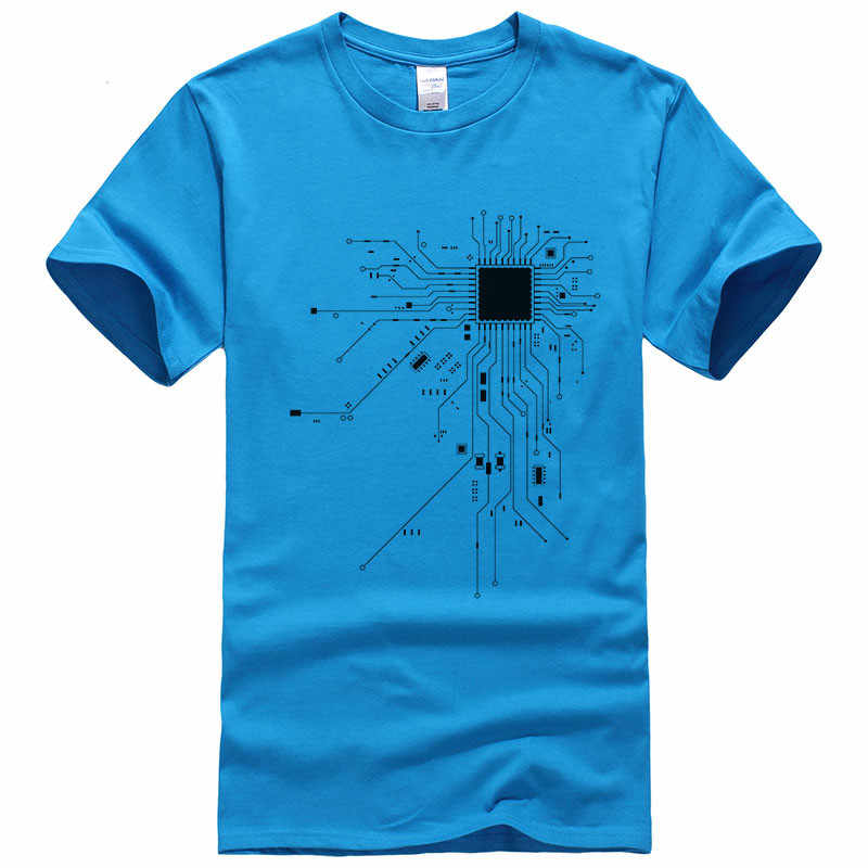 Erkekler GEEK Nerd canavar kesmek PC oyuncusu takım CPU çekirdek T-shirt 2018 yaz baskılı pamuk o-boyun t shirt rahat t-shirt