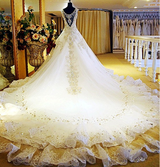 Beautiful Gold Wedding Dresses: Aliexpress.com : Buy Luxury Wedding Dress 2015 The Whole