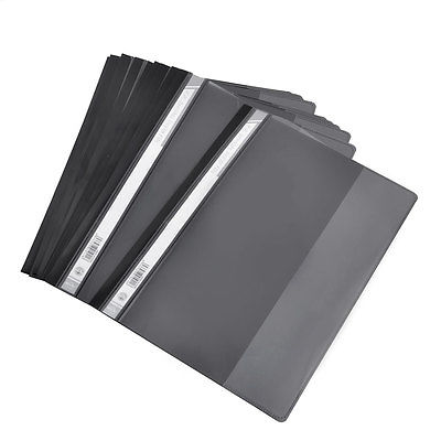 12 x Plastic Office A4 Size File Folders Organizer Black Clear a4 leather discolor manager file folder restaurant menu cover custom portfolio folders office portable pu document report cover
