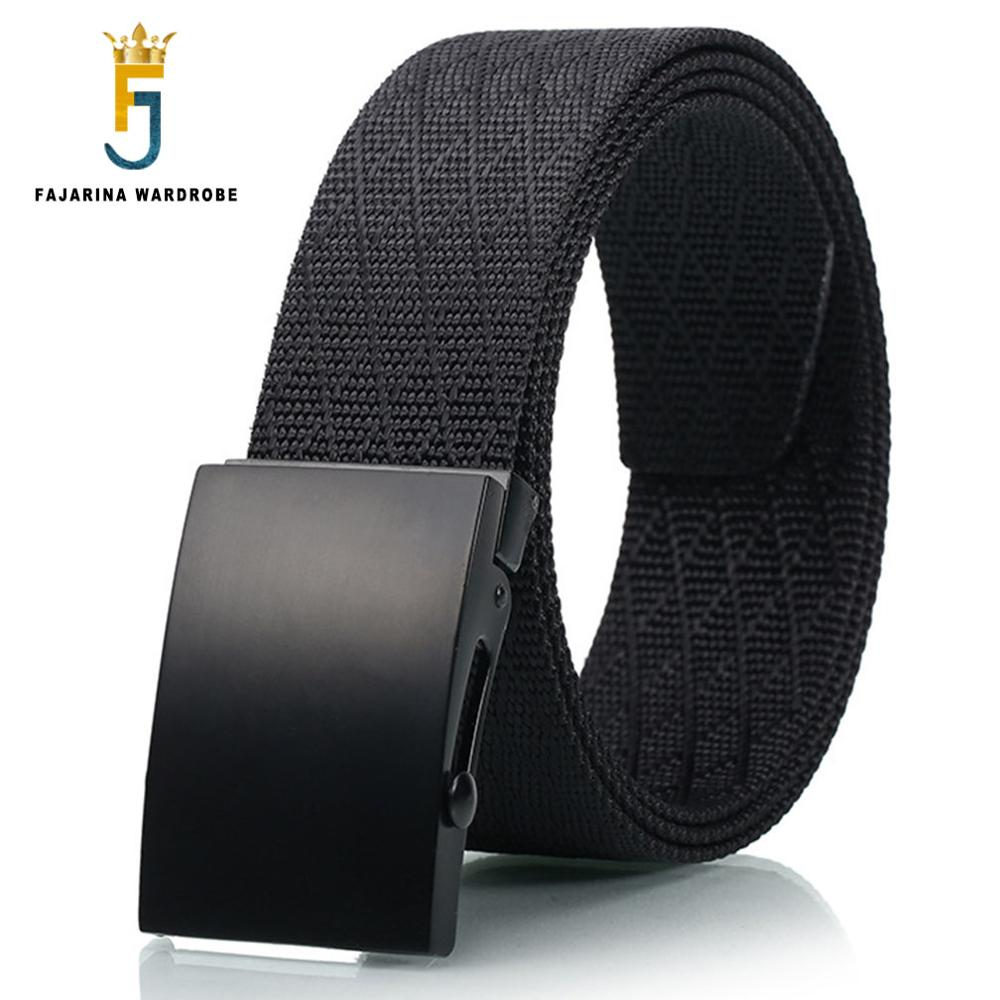 FAJARINA New Unisex Quality Canvas Automatic Styles Straped Female Patchwork Novelty Male Belts For Women 38mm Width CBFJ0036