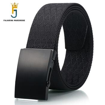FAJARINA New Novelty Unisex Quality Patchwork Nylon Automatic Styles Straped Female Male Belts for Women 38mm Width CBFJ0036