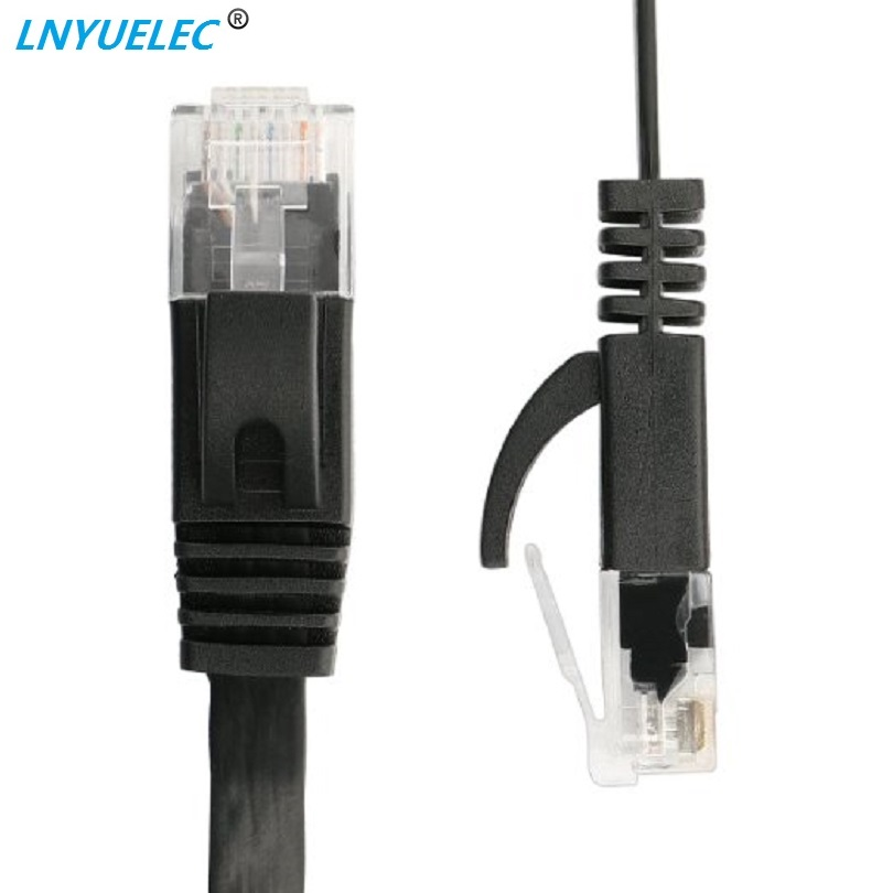 15cm 3ft1.5ft 1m 2M 3m 10ft 5m 10m 15m 20m 30m Cable CAT6 Flat UTP Ethernet Network Cable RJ45 Patch LAN Cable Black White Color