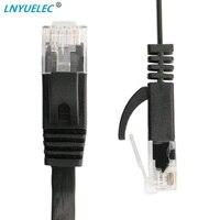 15cm 3ft1.5ft 1m 2M 3m 10ft 5m 10m 15m 20m 30m cable CAT6 plana UTP Cable de red Ethernet RJ45 conector LAN color blanco negro