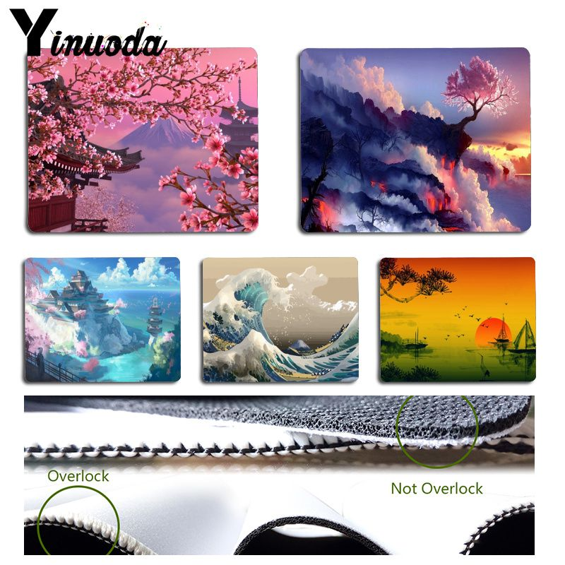 Yinuoda Japan-landscape Water Nature Fantasy Wave Cherry Rubber Mouse Mat Pad Size For Size For 180x220x2mm And 250x290x2mm