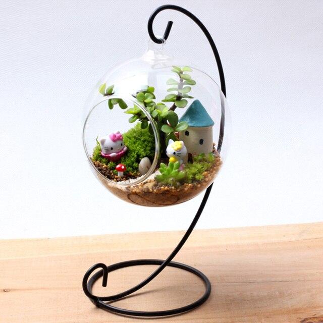 Aliexpress Com Buy Hanging Crystal Glass Plant Flower