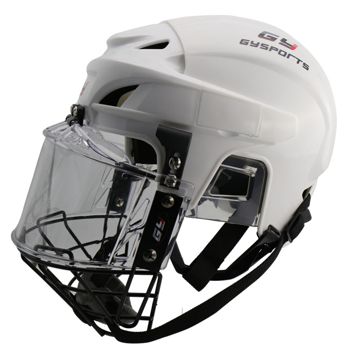GY SPORTS Free Shipping Hockey Sport Protector Ice Hockey Player Helmet with cage face shield недорого