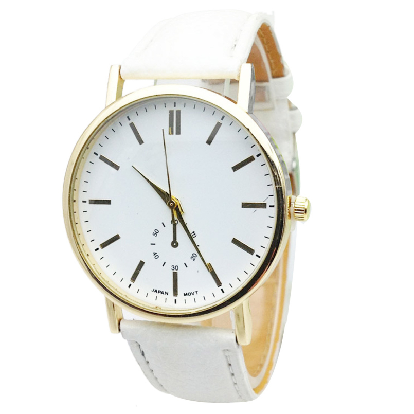 Excellent quality 2016 Fashion watch women Round Leather Analog Quartz Wrist Watches Quartz Watch