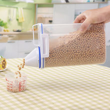 Plastic Cereal Dispenser Storage Box Kitchen Food Grain Rice Container Nice Kitchen rice storage box flour grain 2L storage(China)