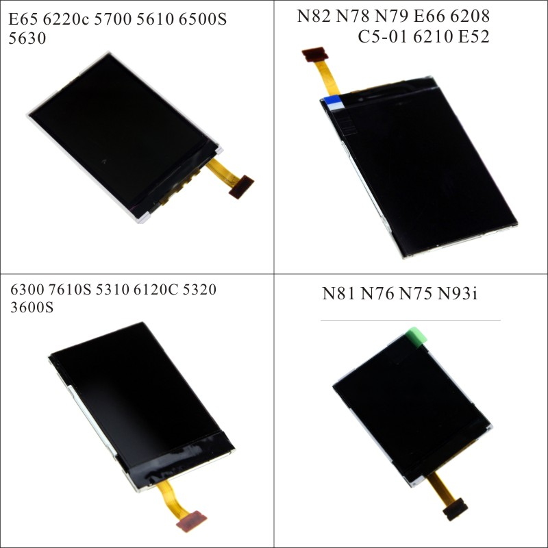Replacement repair LCD display for <font><b>Nokia</b></font> 6300 5310 6120C 5320 N82 N78 N79 E66 N81 <font><b>N76</b></font> 6220c 5700 5610 6500S + screwdriver tools image