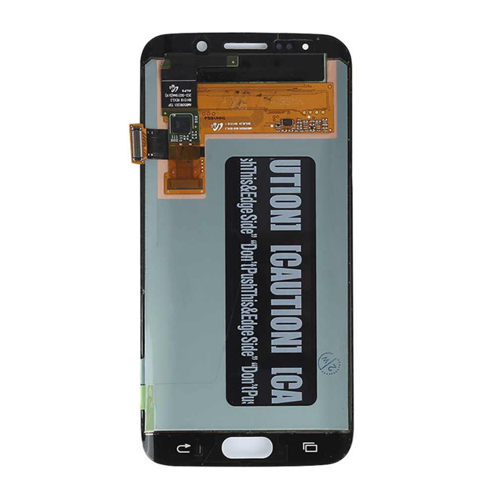 S6 borde lcd para Samsung Galaxy S6 borde SM-G925F pantalla LCD digitalizador de pantalla táctil de cristal Asamblea piezas de repuesto herramientas g925f