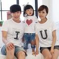 Дети летнее мама отец ребенка хлопка футболку семьи соответствующие одежда белый tshirt прямая поставка