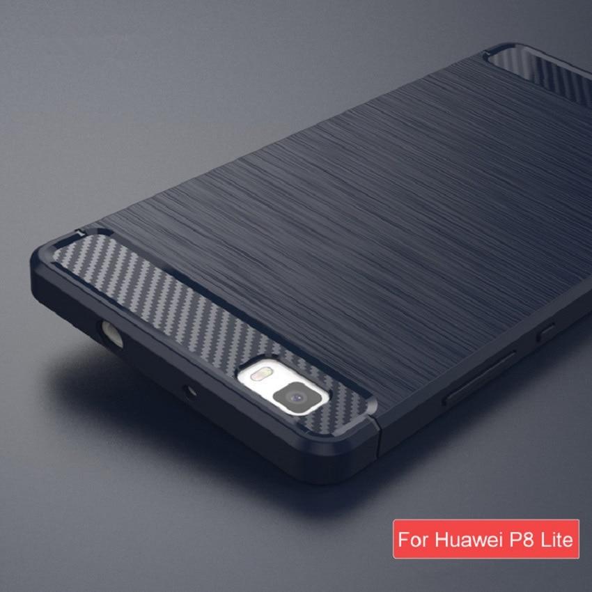 Untuk Huawei P8 Lite Kasus Kualitas Tinggi Lembut Silicon Kasus - Aksesori dan suku cadang ponsel - Foto 2