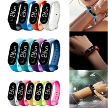 Fashion Women Men Sport Watch Waterproof LED Luminous Electronic Sensor Watches Casual Bracelet Wrist Watch Thanksgiving Gift cheap Dual Display Buckle Plastic 5Bar 20mm ROUND 10mm Swim LED display Water Resistant Glass 25cm No package 50mm ladies watch