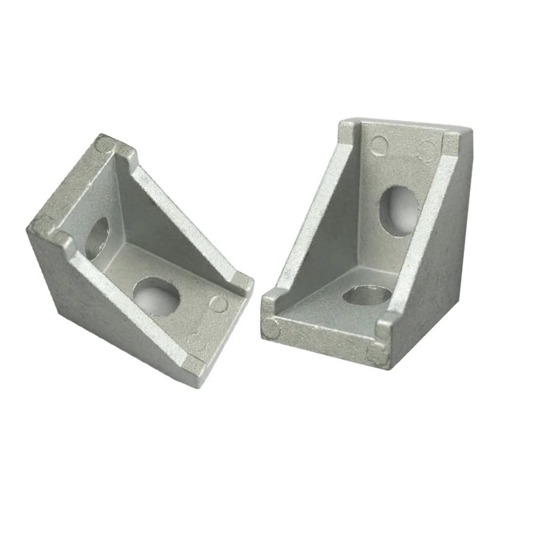 10pcs/set 20x20mm Metal Aluminium Corner Brackets Used for Reinforcing Inside of Right Angle Corner Joints