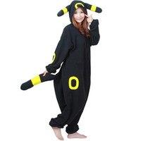 Bande dessinée Poke mon Caractère Umbreon Onesie Onesie de Bande Dessinée Japonais anime Cosplay Costume En Laine Polaire Pika chu D'hiver vêtements de Nuit Pyjamas